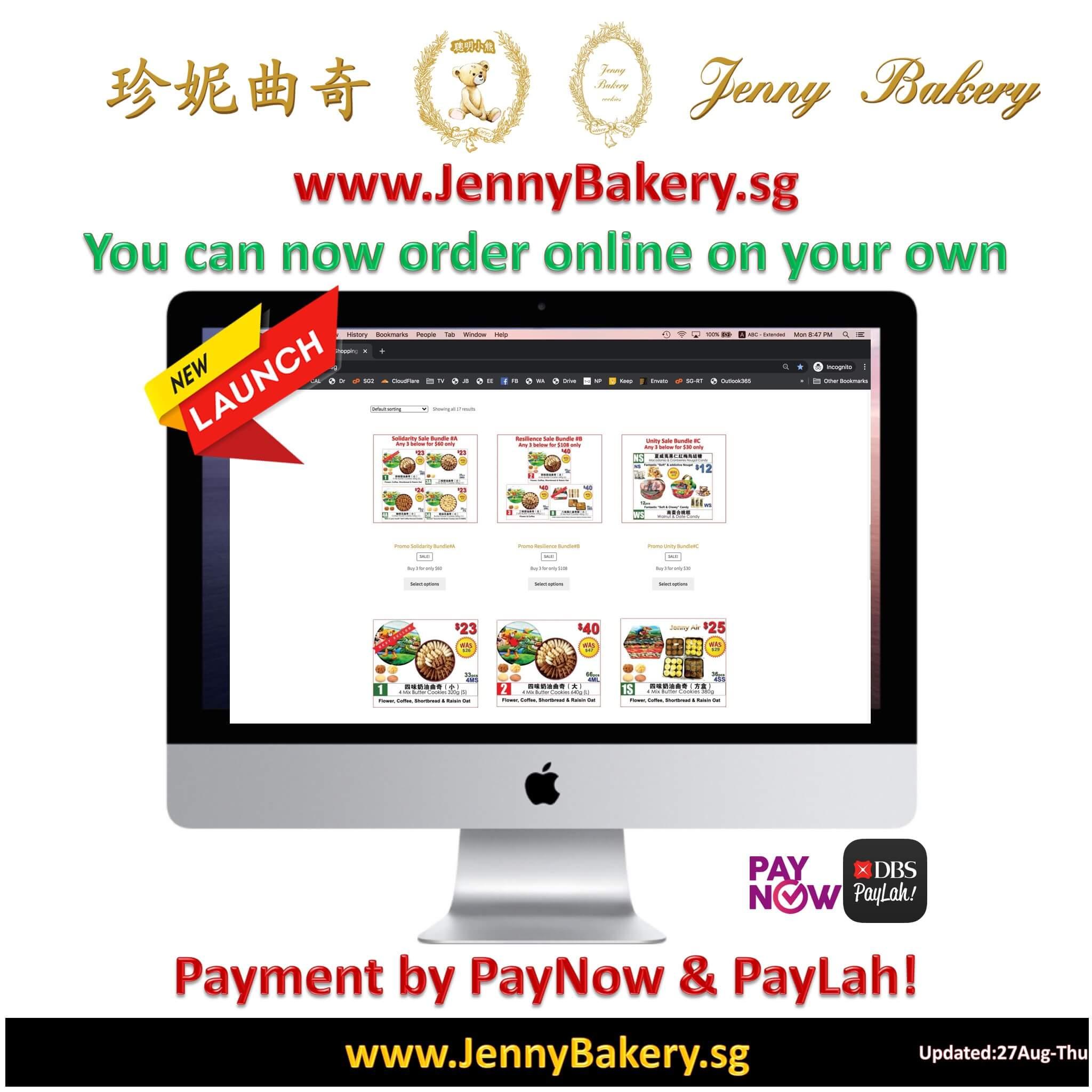 Order Jenny Bakery Singapore Online